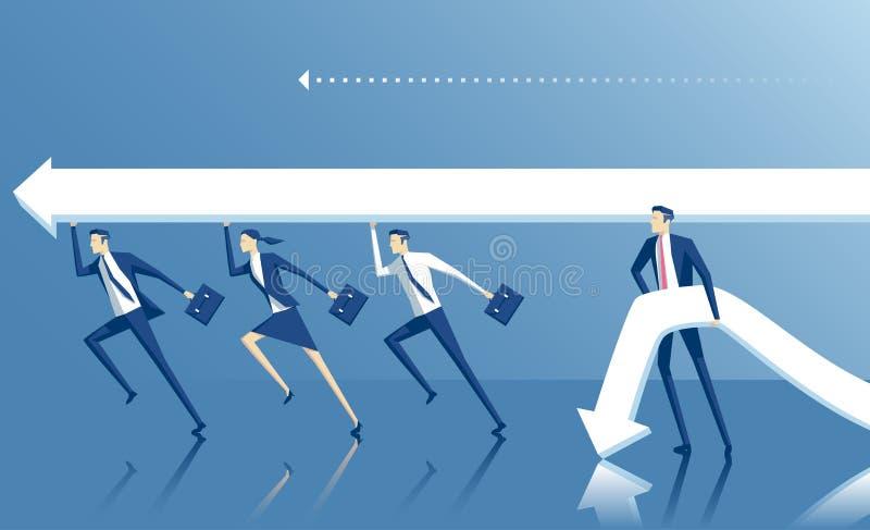 Biznesowa pojęcie praca zespołowa royalty ilustracja