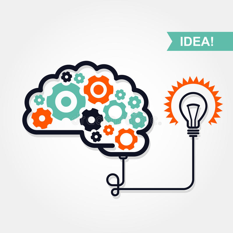 Biznesowa pomysłu lub wymyślenia ikona ilustracji