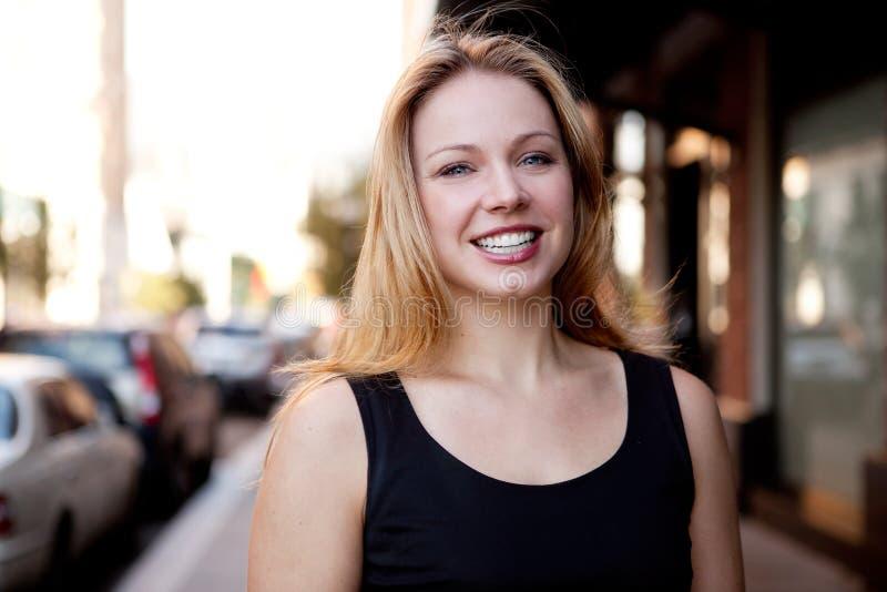 biznesowa portreta ulicy kobieta obrazy royalty free