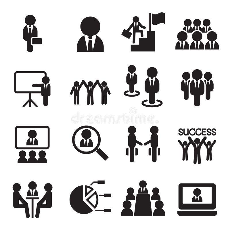 Biznesowa praca zespołowa, szkolenie, konwersatorium, spotkanie, konferencja, Succe ilustracja wektor