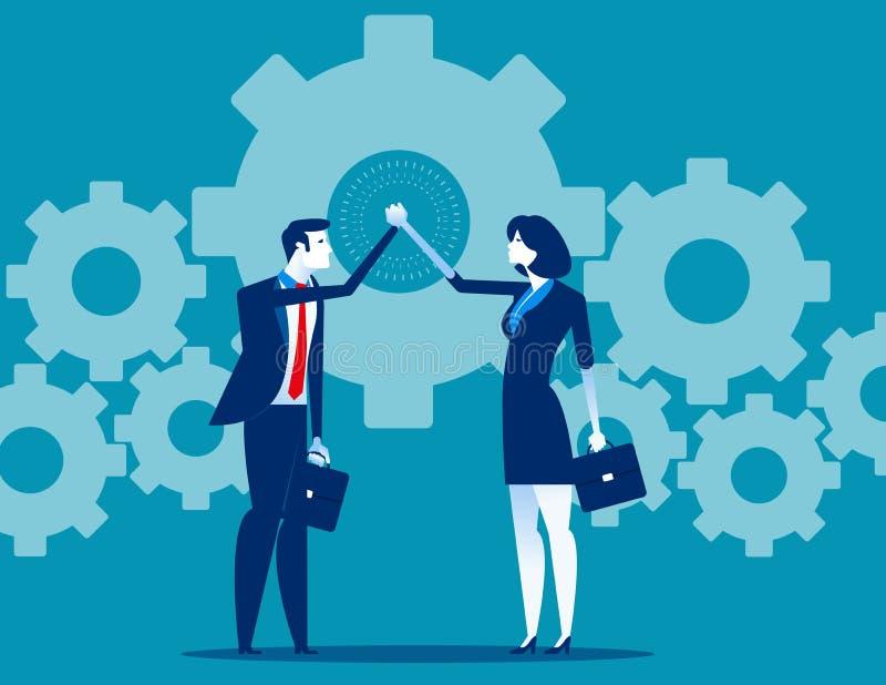 Biznesowa pracy zespo?owej i r?ki koordynacja Poj?cie biznesowa wektorowa ilustracja ilustracja wektor