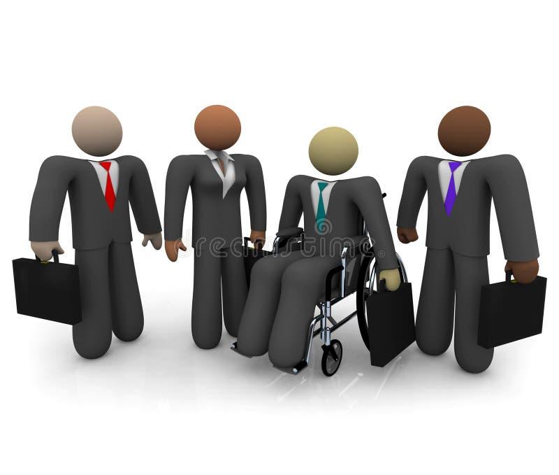 biznesowa różnorodna drużyna ilustracji