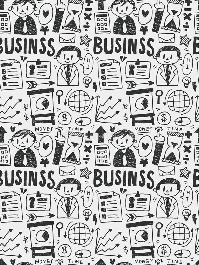 Biznesowa ręka rysująca elementów doodles kreskowa ikona, eps10 ilustracja wektor
