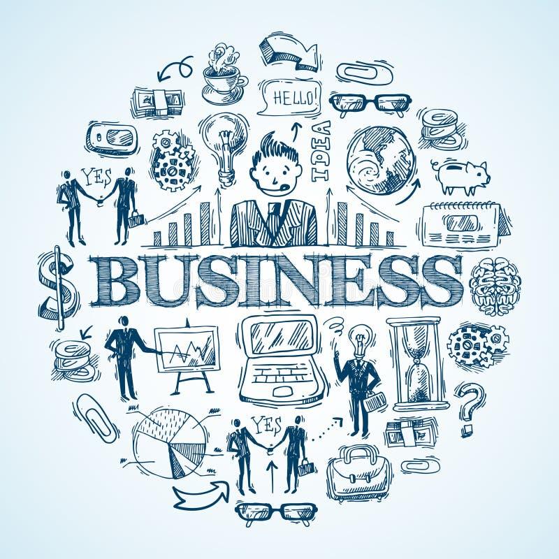 Biznesowa ręka rysujący nakreślenie royalty ilustracja