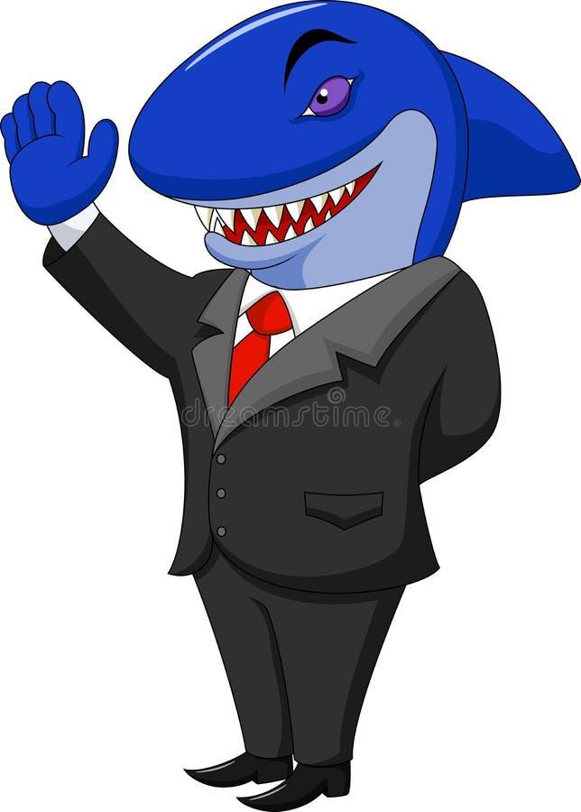Biznesowa rekin kreskówka royalty ilustracja