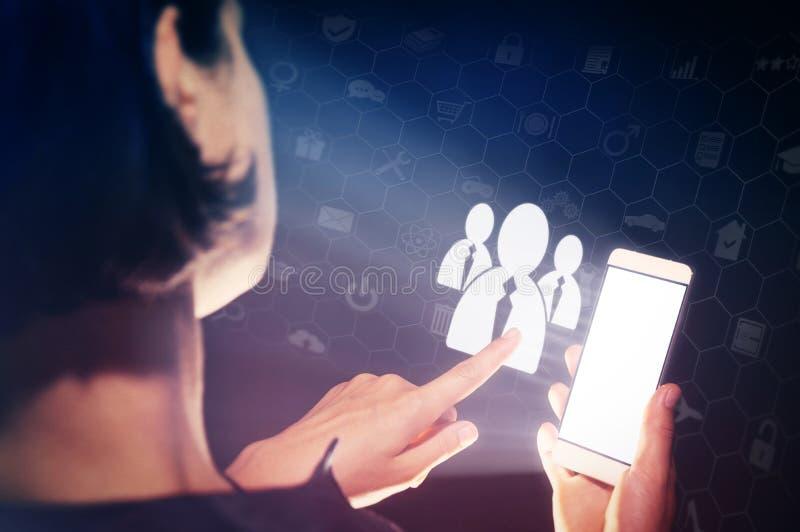 Biznesowa rekrutacja lub zatrudniać fotografii pojęcie zdjęcie stock
