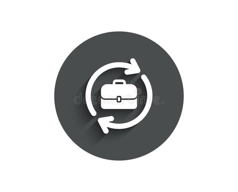 Biznesowa rekrutacyjna prosta ikona Portfolio skrzynka ilustracja wektor