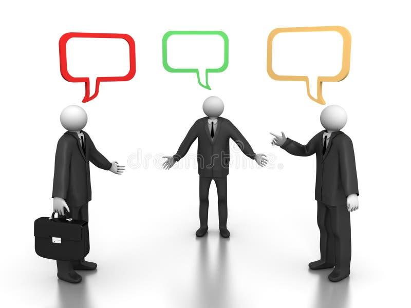 biznesowa rozmowa royalty ilustracja