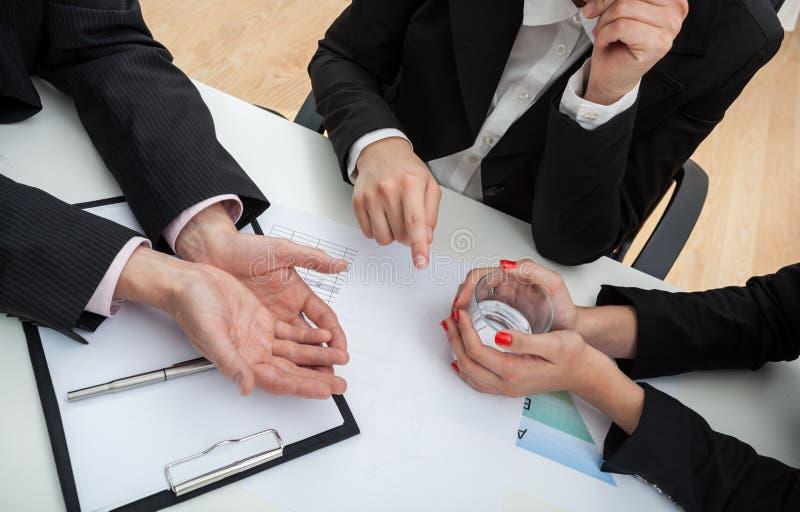 Biznesowa rozmowa zdjęcie stock