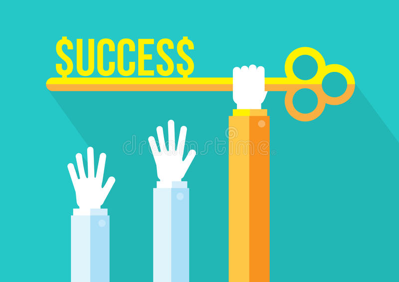 Biznesowa rywalizacja, pojęcie, przywódctwo i sukcesu royalty ilustracja