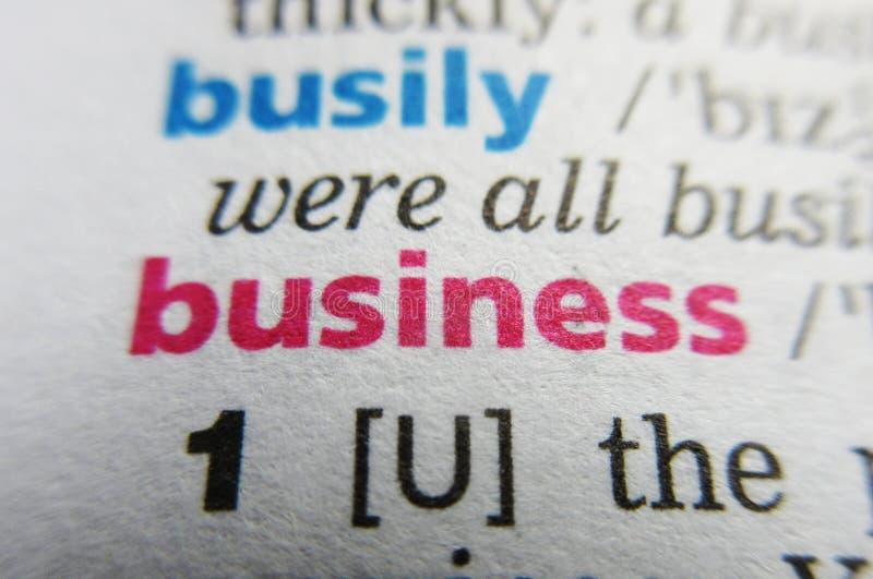 Biznesowa słowo słownika definicja zdjęcia stock