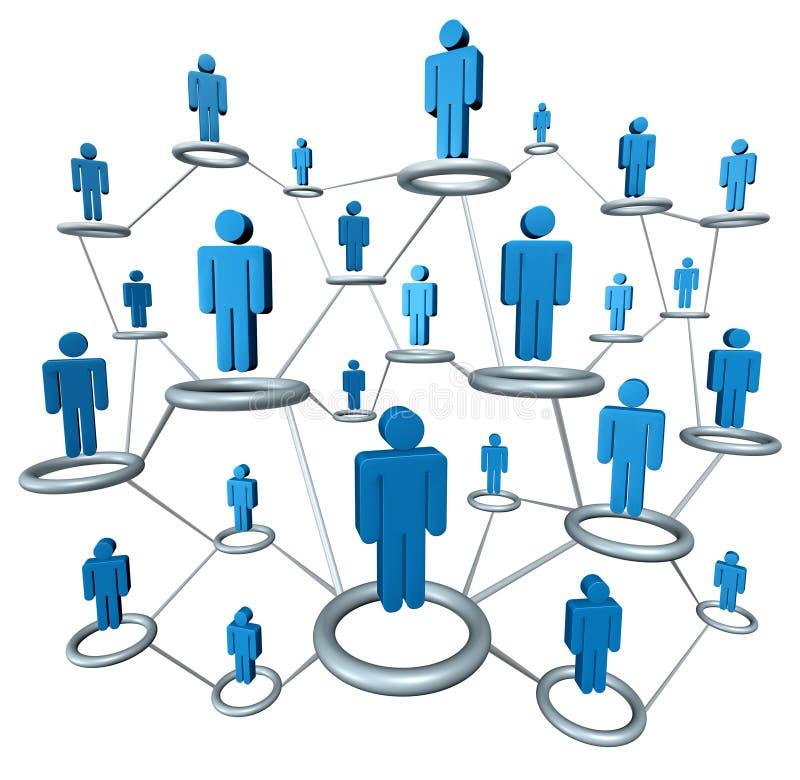 biznesowa sieć ilustracji