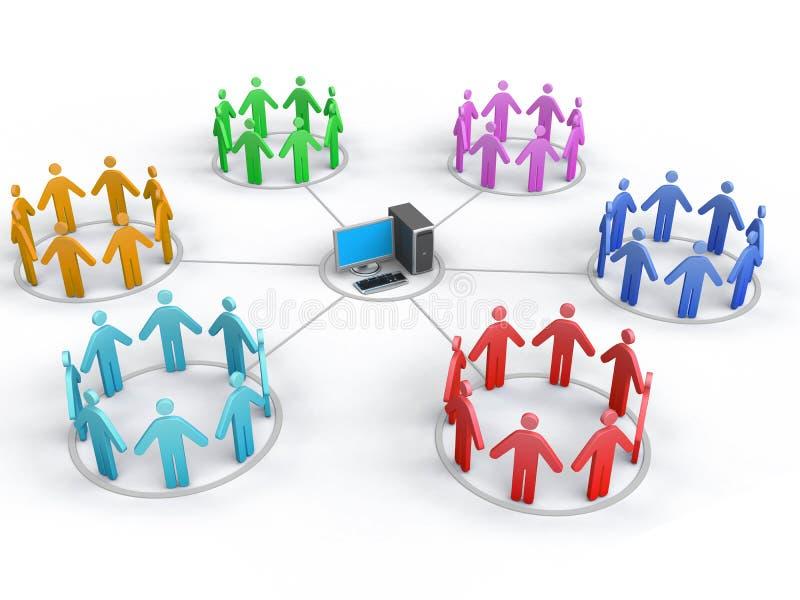 biznesowa sieć ilustracja wektor