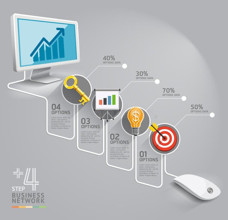 Biznesowa sieć komputerowa royalty ilustracja