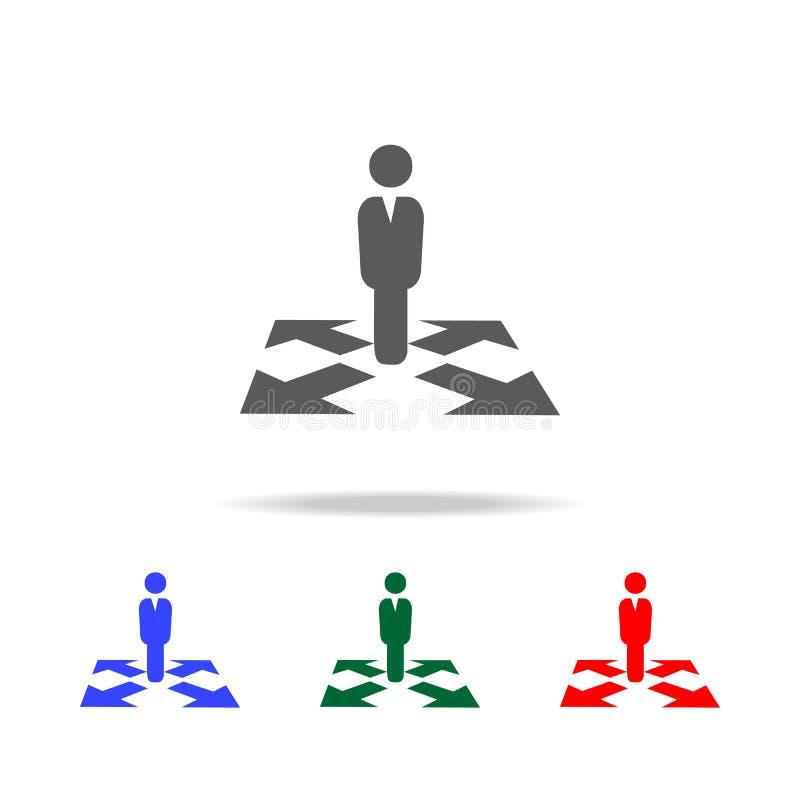 Biznesowa sposób ikona Elementy dział zasobów ludzkich w wielo- barwionych ikonach Biznes, działu zasobów ludzkich znak Patrzeć d obraz stock