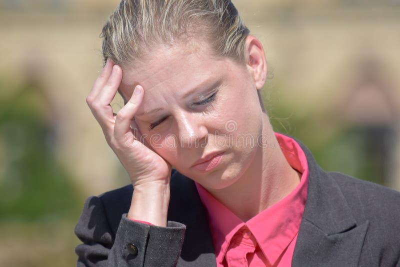 biznesowa stresująca kobieta zdjęcie royalty free