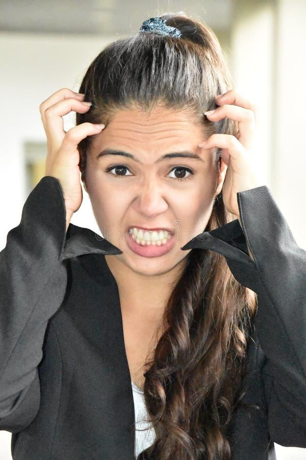 biznesowa stresująca kobieta obraz stock