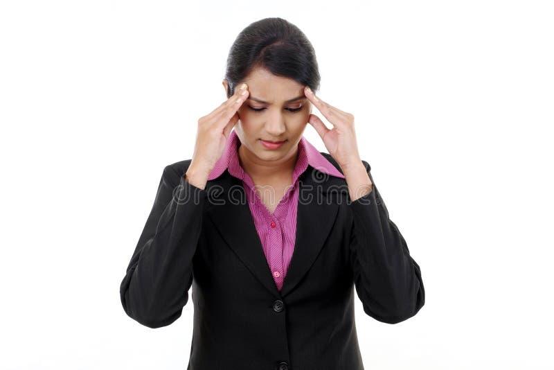biznesowa stresująca kobieta fotografia stock