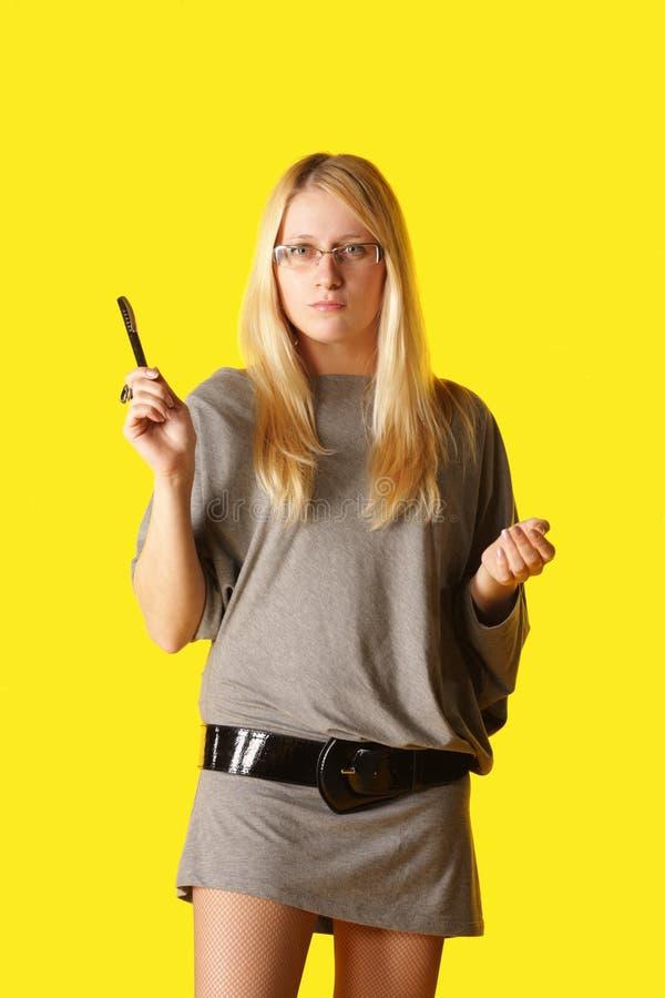 biznesowa surowa kobieta zdjęcia stock