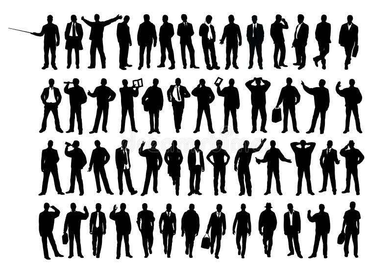 biznesowa sylwetka ilustracji