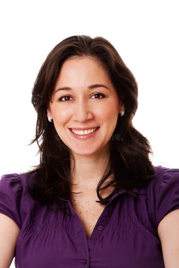 biznesowa szczęśliwa uśmiechnięta kobieta obraz stock