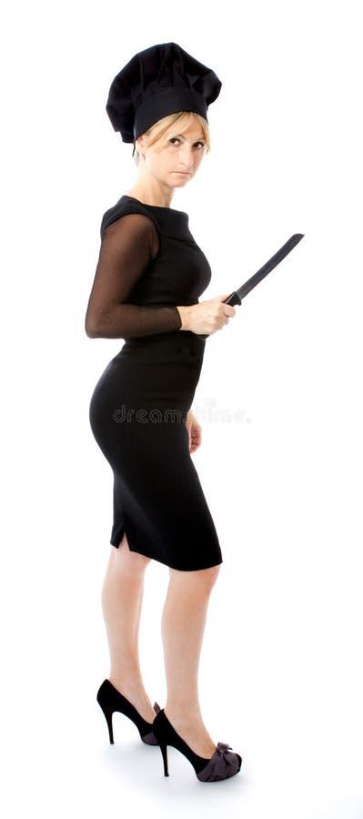 biznesowa szef kuchni kucharza metafory kobieta zdjęcie stock