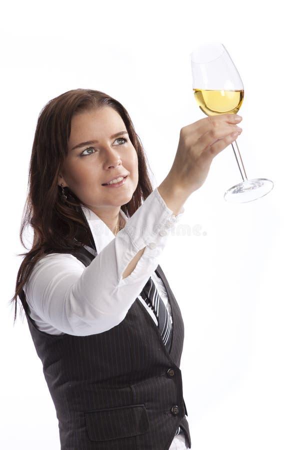 biznesowa szklana mienia wina kobieta zdjęcie stock