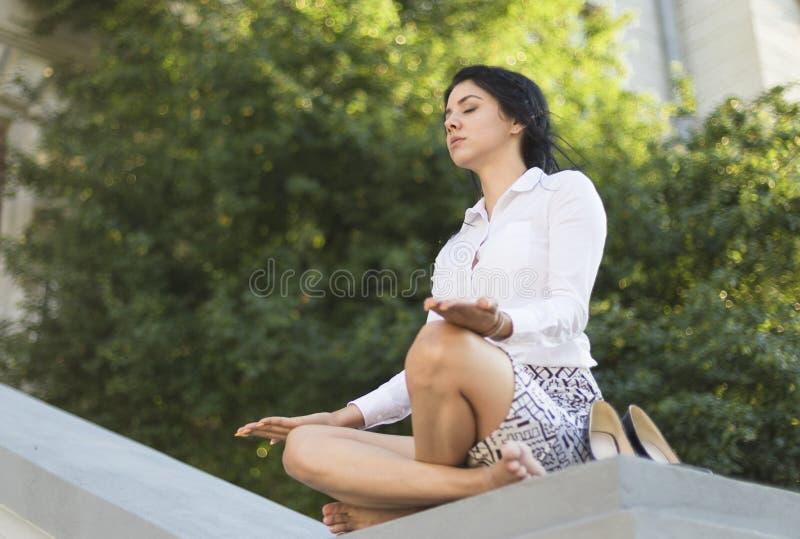 biznesowa target948_0_ kobieta zdjęcie stock