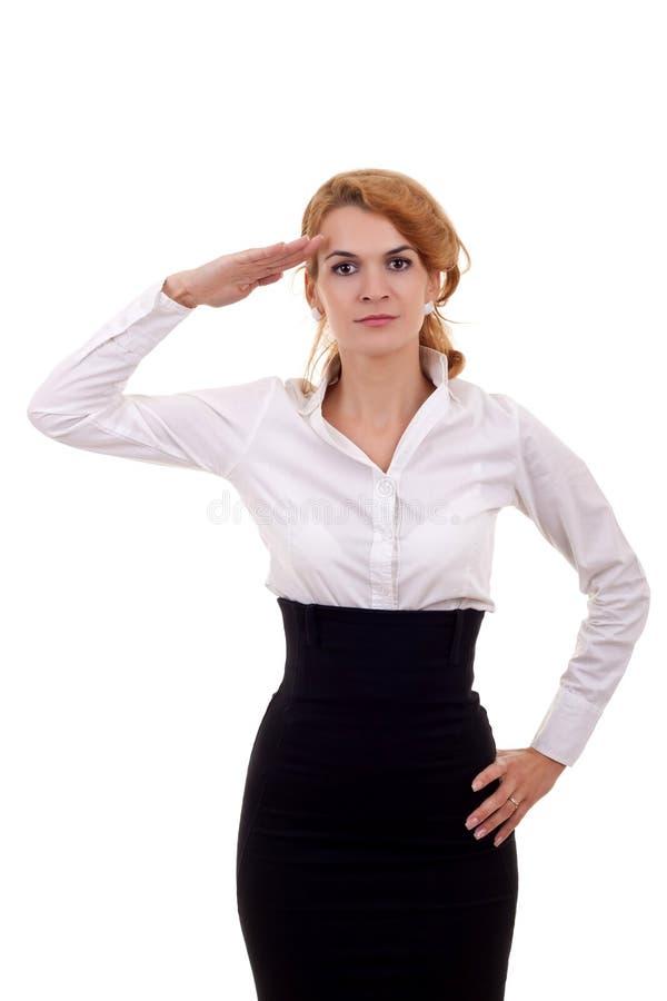 biznesowa target2329_0_ kobieta zdjęcie stock