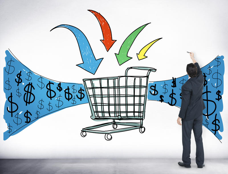 Biznesowa technologia Robi zakupy Online Wyszukujący pojęcie ilustracja wektor