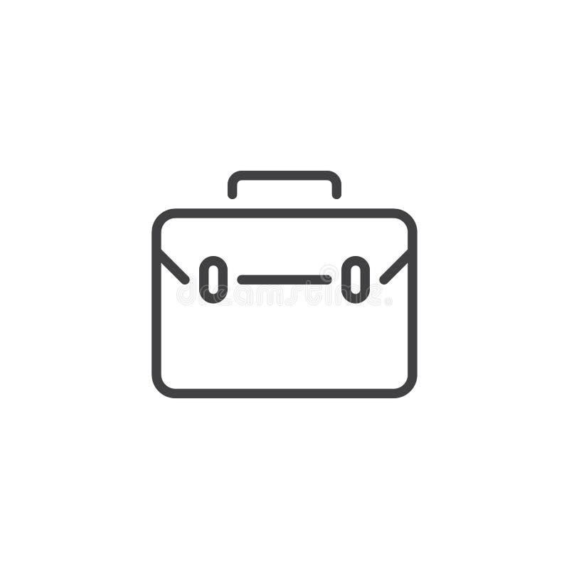 Biznesowa torba, skrzynki kreskowa ikona royalty ilustracja