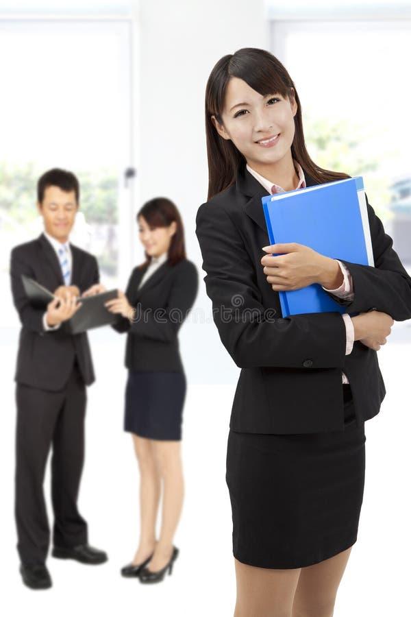 biznesowa uśmiechnięta kobieta fotografia stock