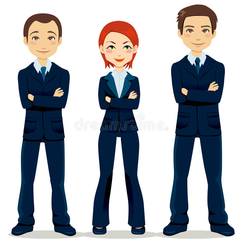biznesowa ufna drużyna ilustracji