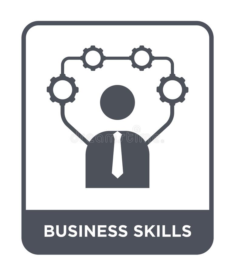 biznesowa umiejętności ikona w modnym projekta stylu biznesowa umiejętności ikona odizolowywająca na białym tle biznesowych umiej ilustracja wektor