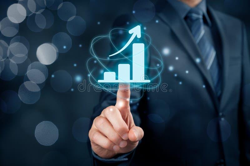 Biznesowa wzrostowa analiza obrazy stock