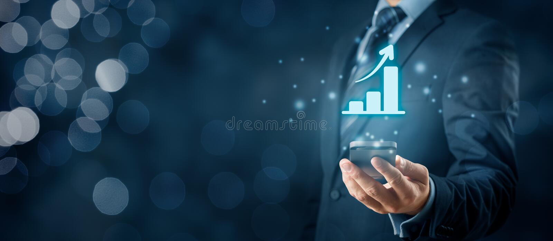 Biznesowa wzrostowa analiza zdjęcia royalty free