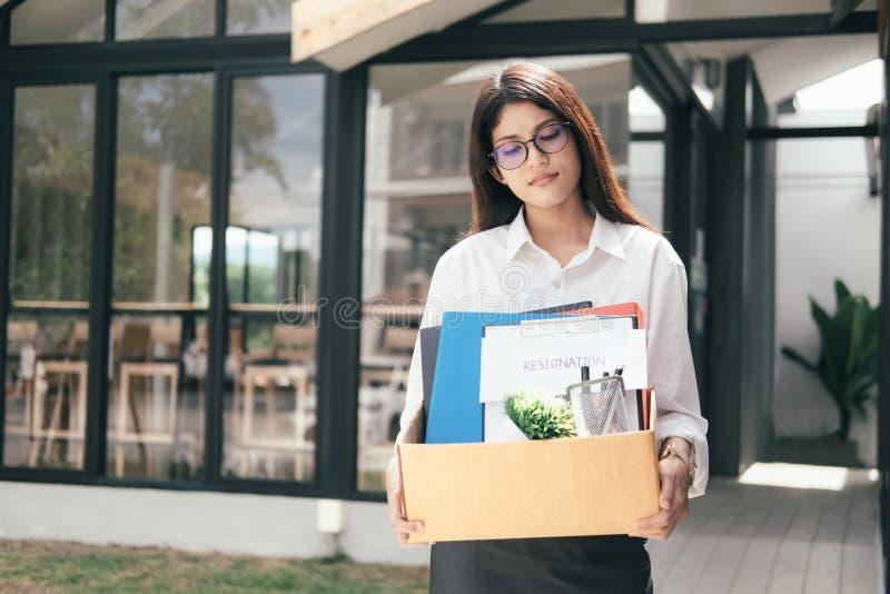 Biznesowa zmiana praca, bezrobocie, zrezygnowany pojęcie obraz stock