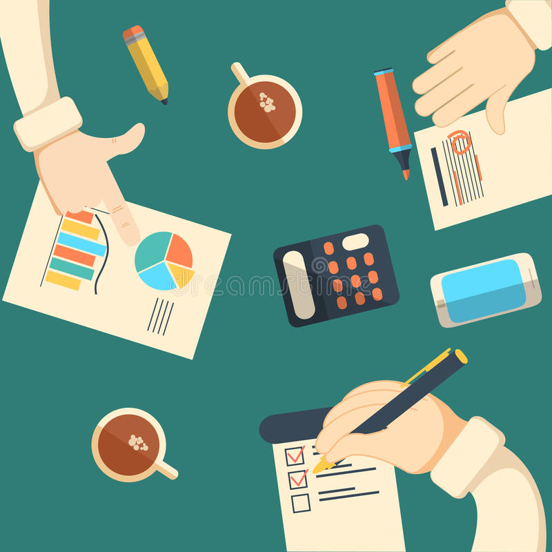 Biznesowe analityka i pieniężna rewizja ilustracja wektor