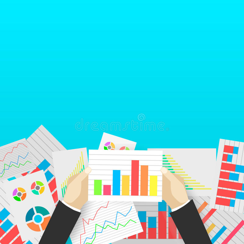 Biznesowe analityka i pieniężna rewizja ilustracji