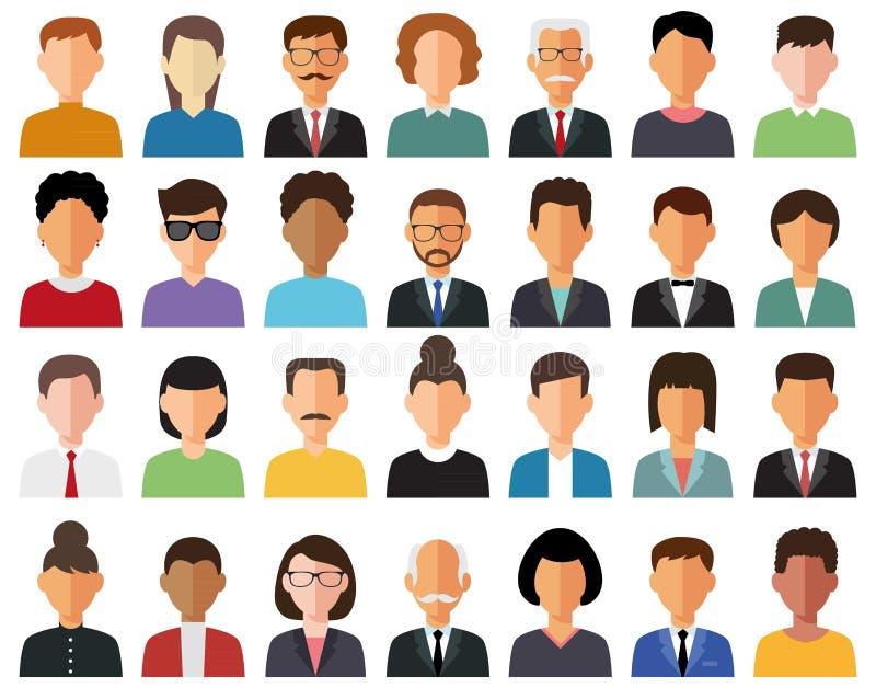 Biznesowe avatar ikony obrazy royalty free