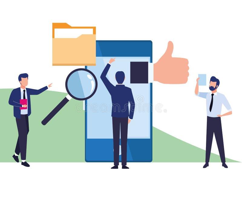 Biznesowe coworkers kresk?wki ilustracja wektor