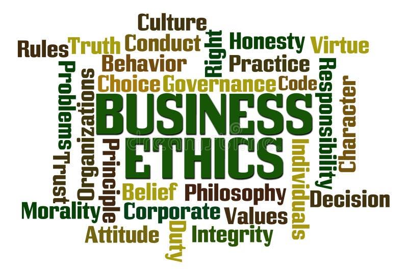 Biznesowe etyki ilustracji