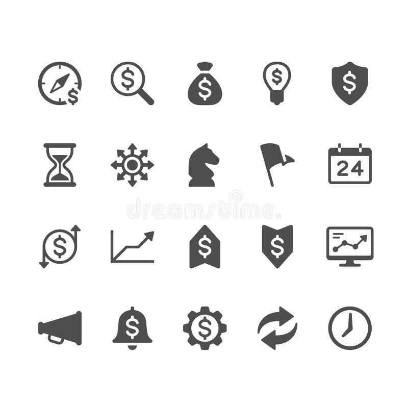 Biznesowe glif ikony ilustracji