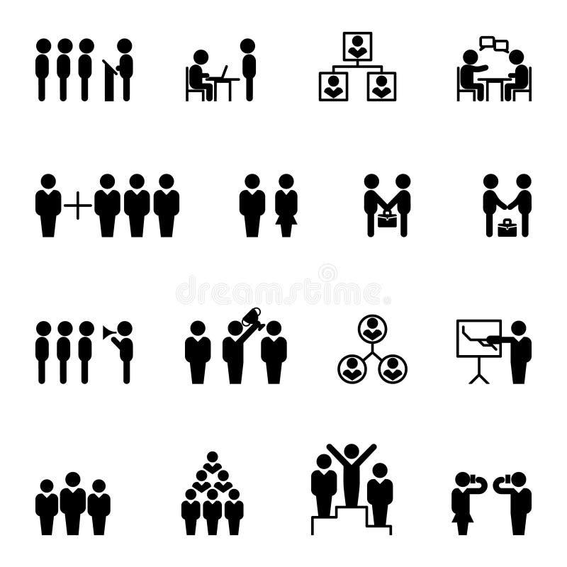 Biznesowe i biurowe ikony HR wektor ilustracji