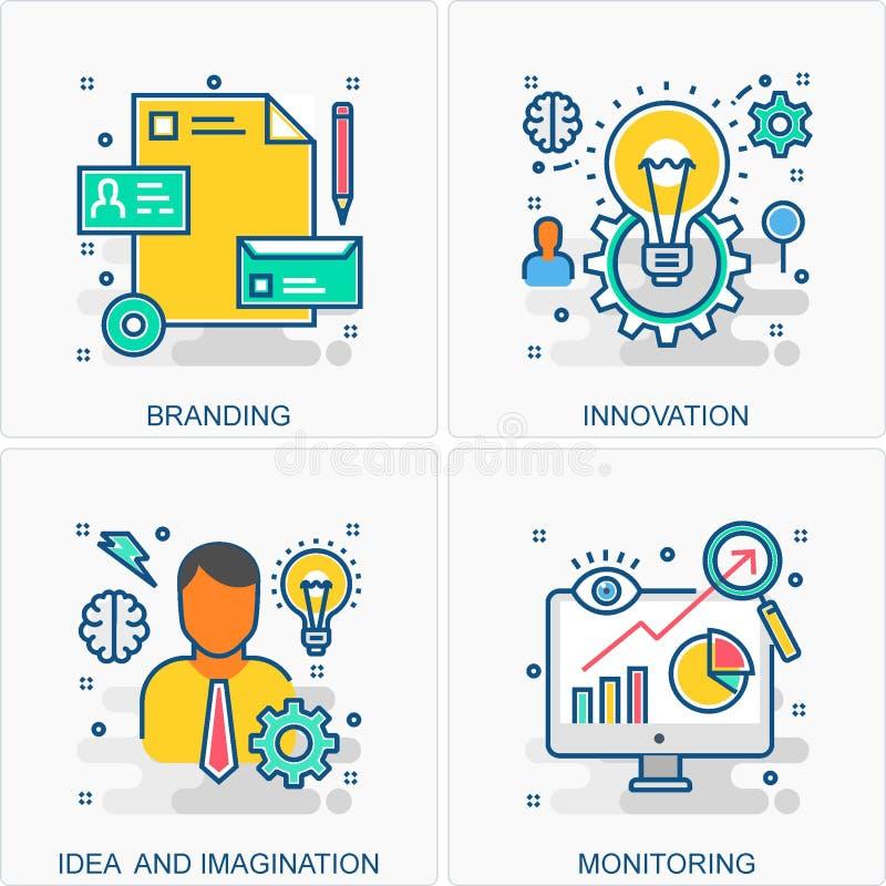 Biznesowe ikon i poj?? ilustracje ilustracji