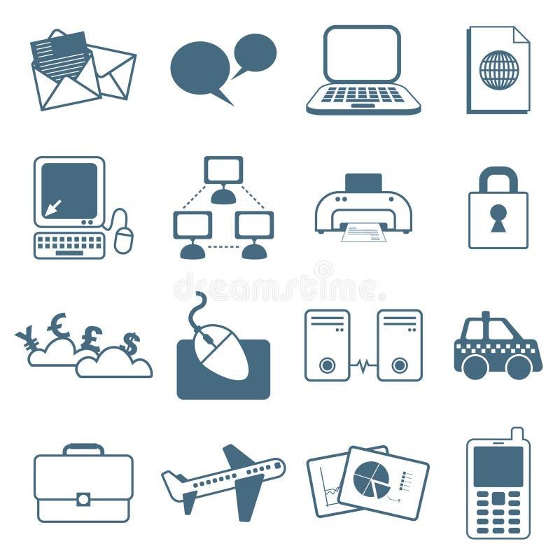 Download Biznesowe ikony ilustracja wektor. Ilustracja złożonej z list - 13342687