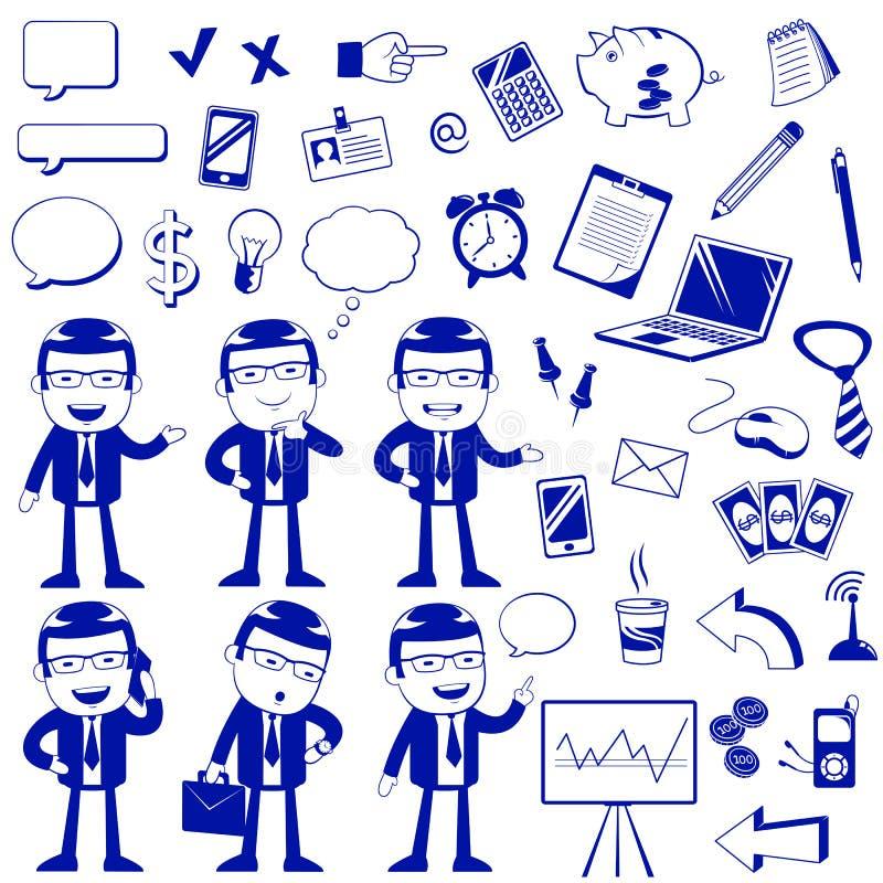 Download Biznesowe ikony ilustracja wektor. Obraz złożonej z bąbel - 31690985