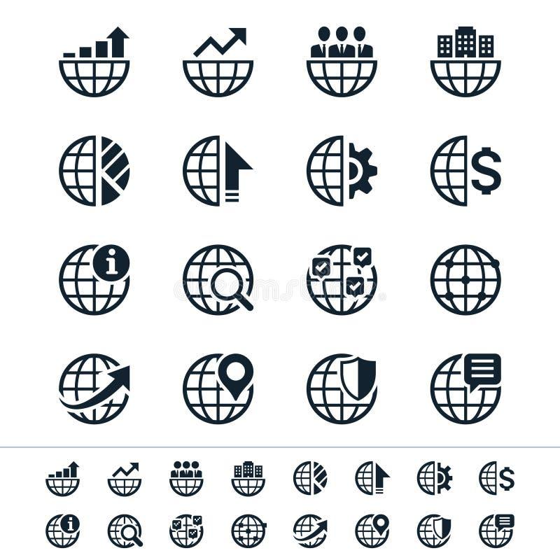 Biznesowe ikony royalty ilustracja