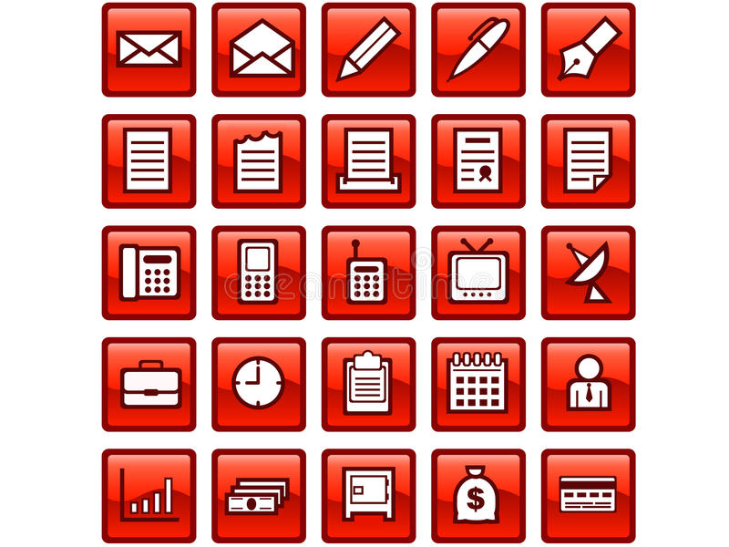 Biznesowe ikony obraz stock