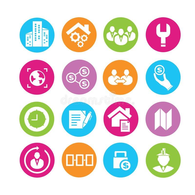 Biznesowe ikony ilustracja wektor